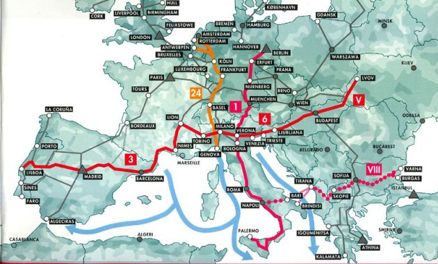 rete transeuropea di trasporti